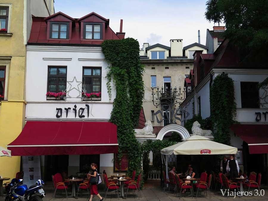 plaza de Szeroka en Kazimierz Ccracovia