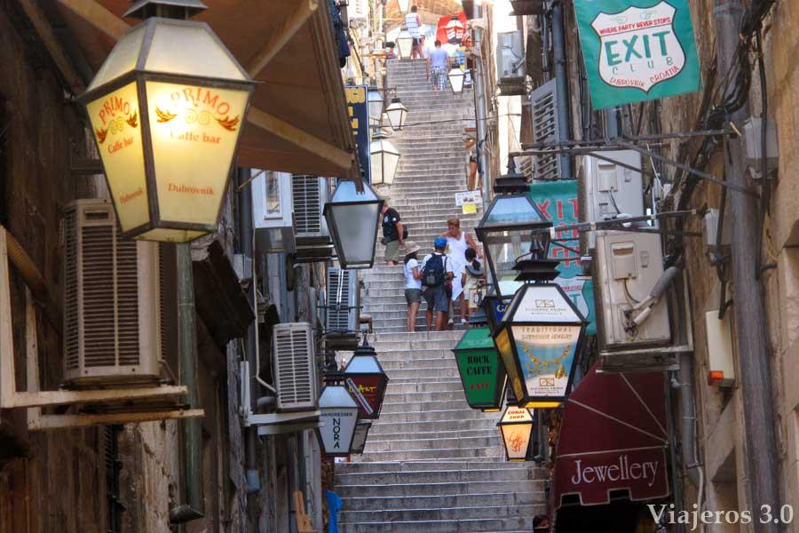 calles de Dubrovnik en Croacia