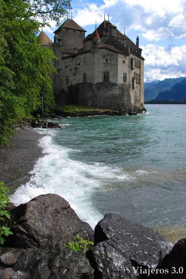 castillo de Chillón en Suiza