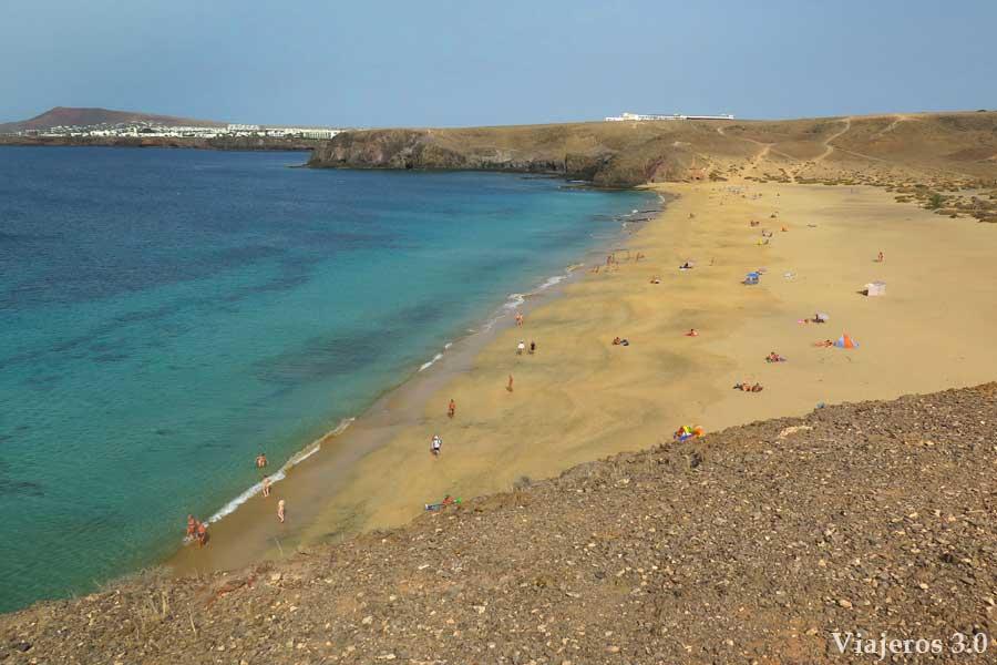 playas del Papagayo en Lanzarote