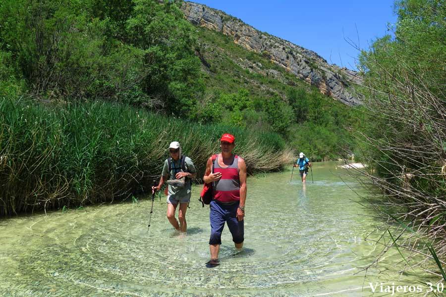 senderismo acuático en Alquézar y el cañón del río Vero
