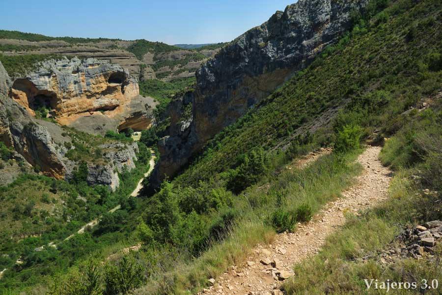 vistas panorámicas cañón del Río Vero a su paso por Alquézar