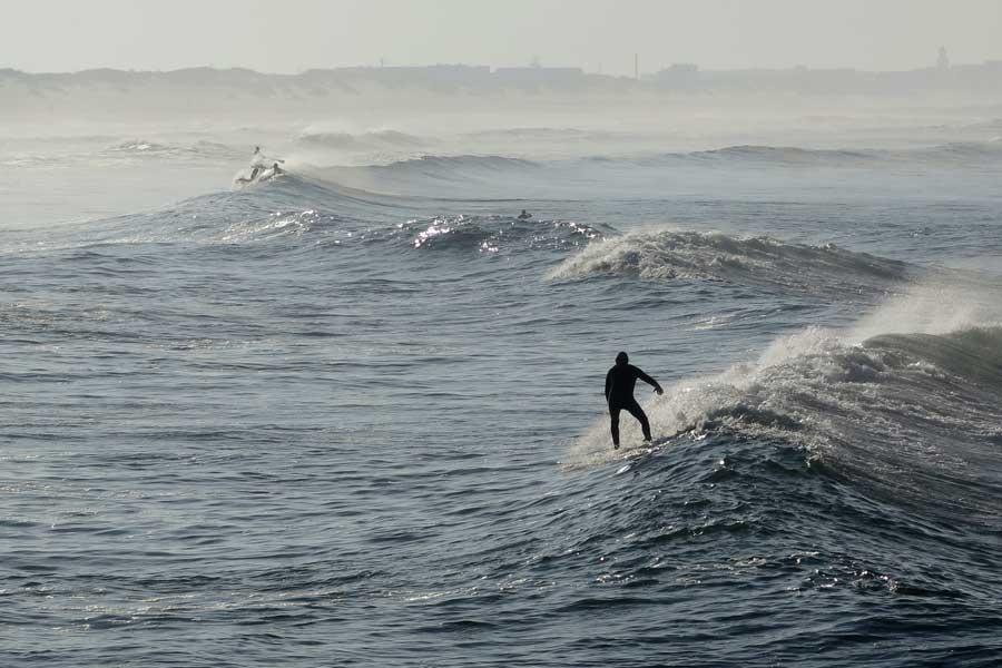 surf en Barra, playas de Aveiro