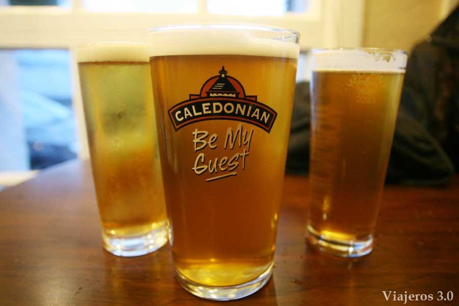 cervezas en mi ruta por Escocia