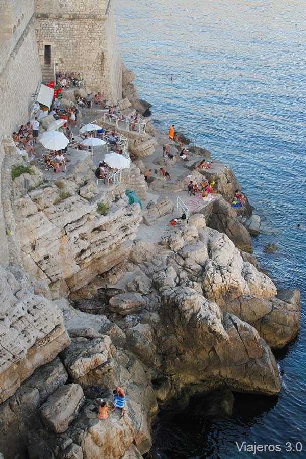 que ver en Dubrovnik, terrazas