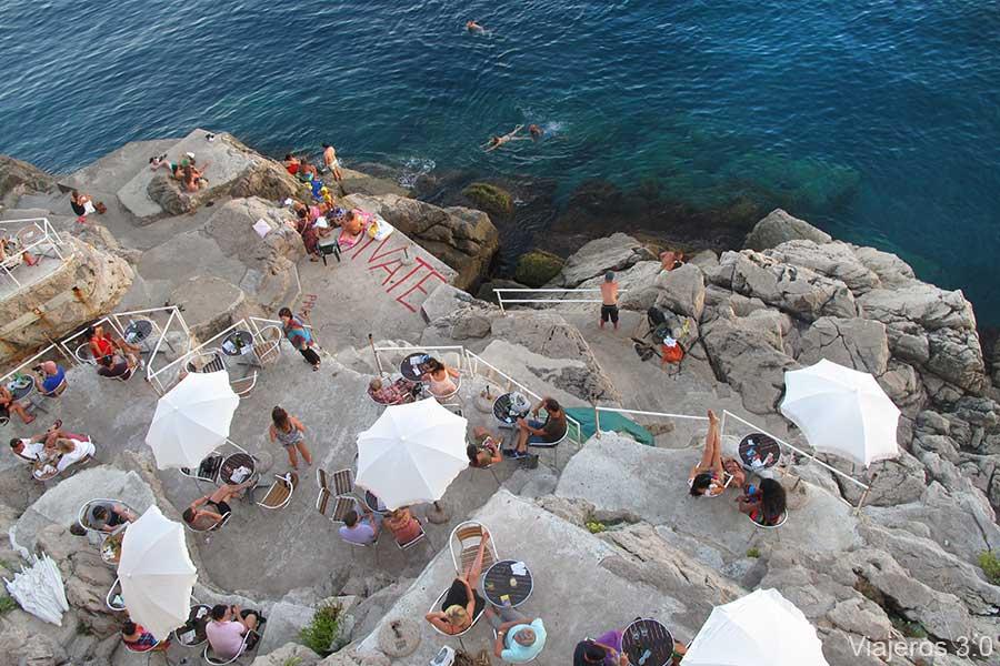 que ver en Dubrovnik, terrazas con encanto