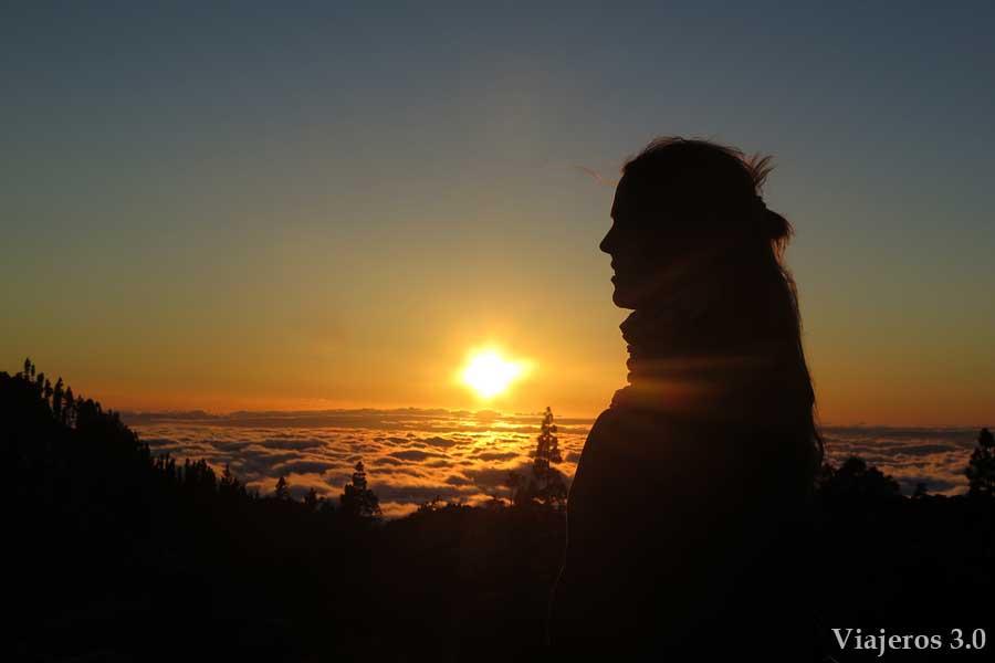 atardecer y mar de nubes en el Teide