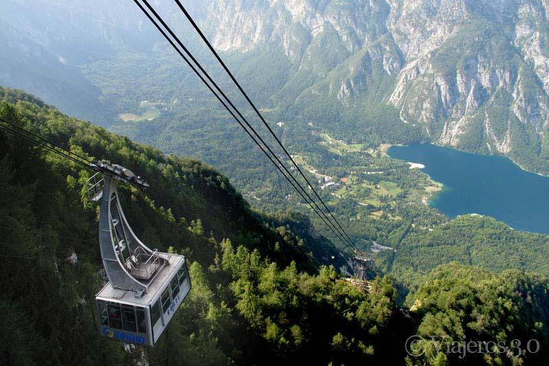 teleférico lago Bohinj, los lagos más bonitos de Eslovenia