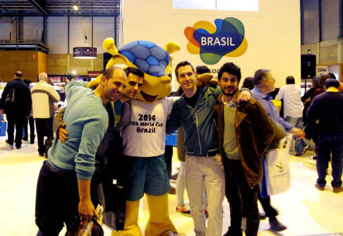 Madrid año 2014, ambiente en la Feria Internacional del Turismo Fitur