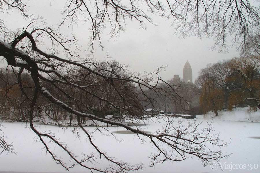 Rascacielos de Nueva York, temporal de nieve