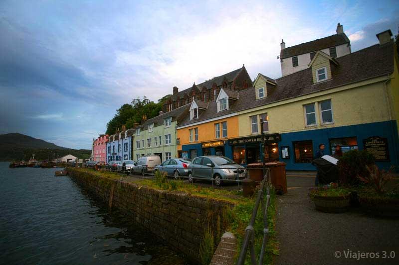 calles de Portree, qué ver en la isla de Skye