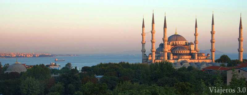Panorámica de la Mezquita Azul