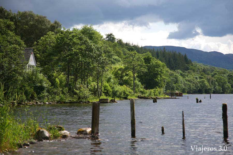 Paisajes en el Lago Ness, Escocia.
