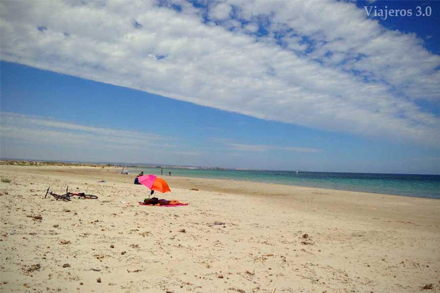 Playa Punta de Algas en Murcia.