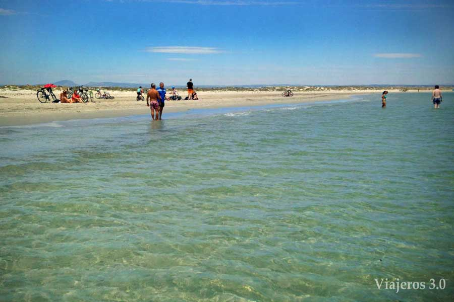 Playas en la Comunidad de Murcia.