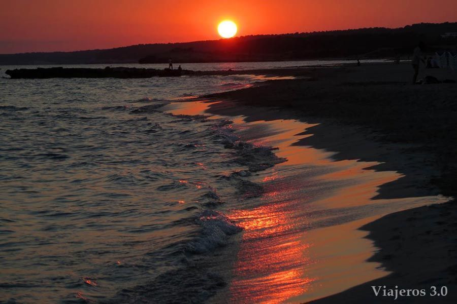 Atardecer en Son Bou, Menorca