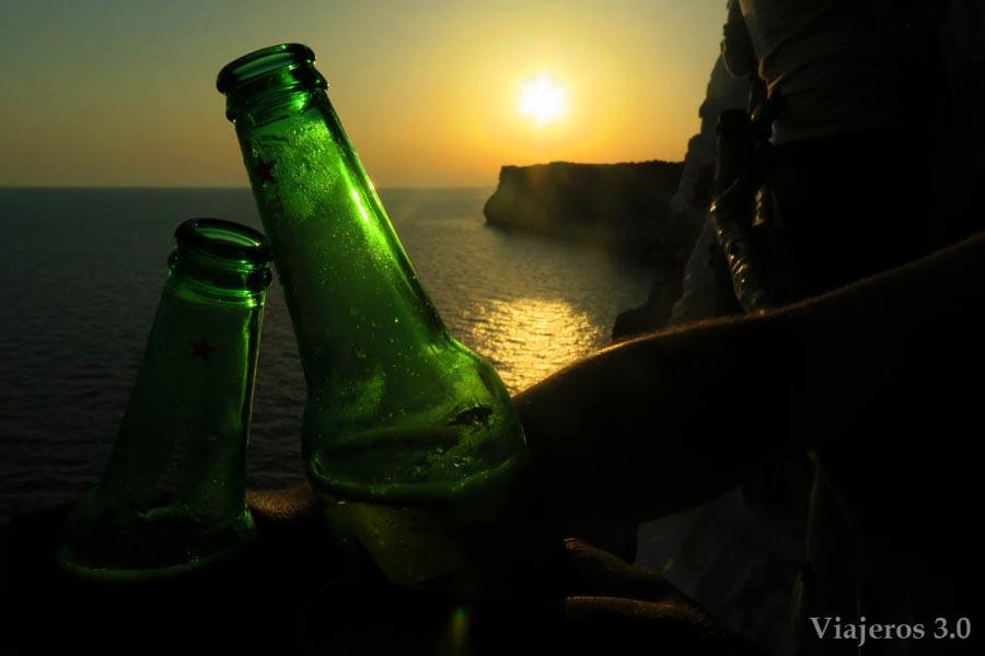 Atardecer en Menorca desde Cova d´en Xoroi.