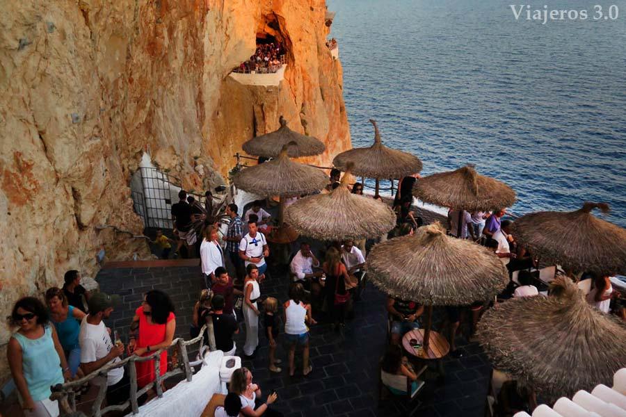 Cova d´en Xoroi en Menorca.