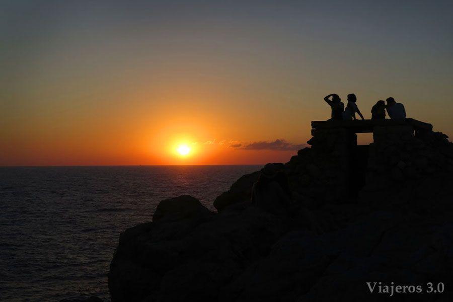 atardeceres de Menorca desde Punta Nati