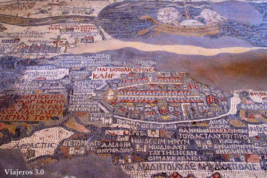 Mosaico iglesia de San Jorge en Madaba