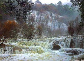 cascada nacimiento del río Cuervo Cuenca