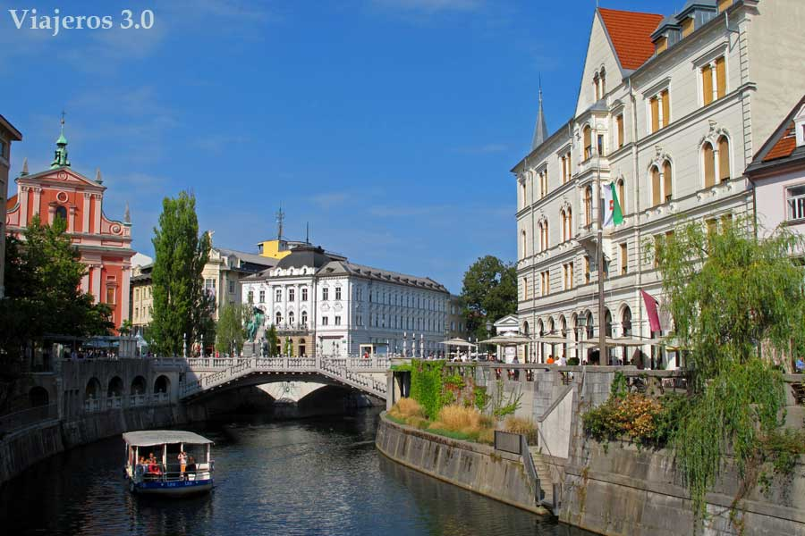 orillas del río Ljubljanica en Liubliana