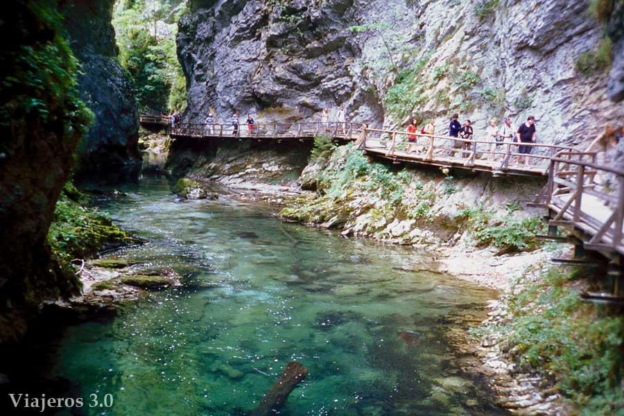 sendero cañón del río Vintgar, qué ver cerca de Liubliana