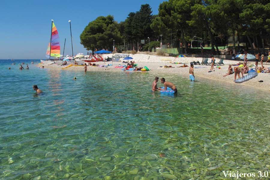 playas de Primosten, ruta por Croacia y Eslovenia
