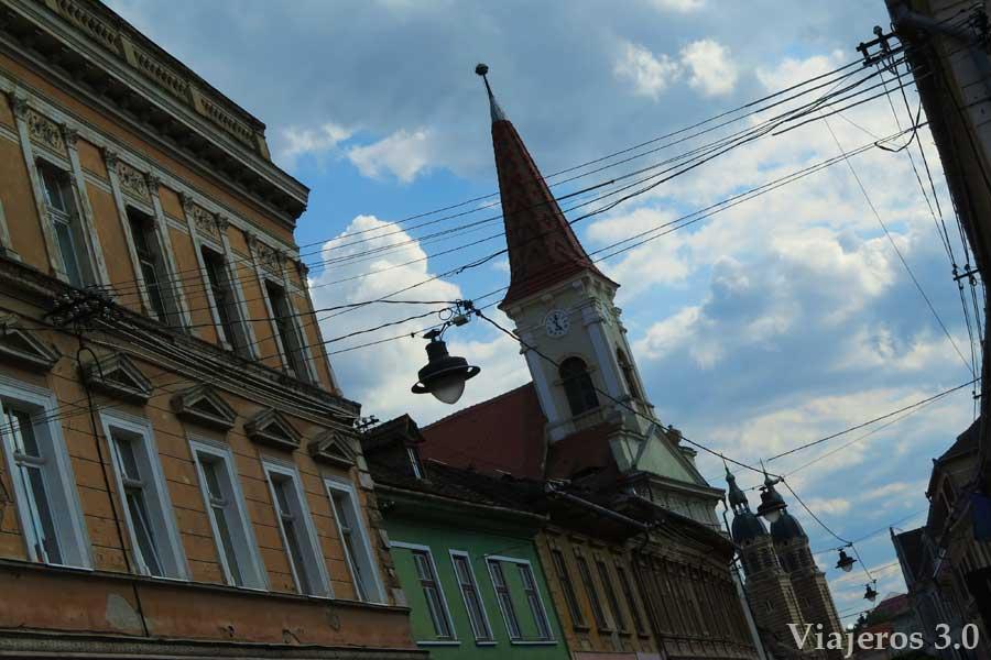 centro histórico de Sibiu en Rumanía