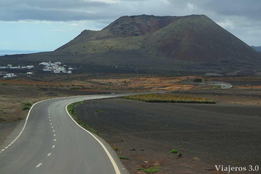 volcán Corona en Lanzarote