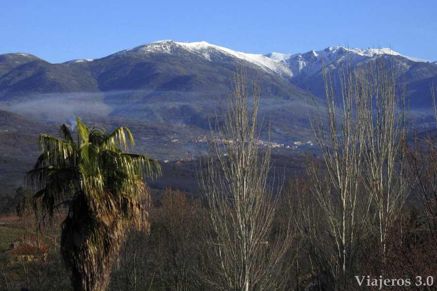 vistas de la Sierra de Gredos desde Jaraíz de la Vera