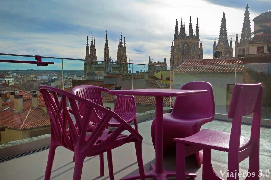 terrza de diseño en el CAB, visitar la catedral de Burgos, horarios y tarifas