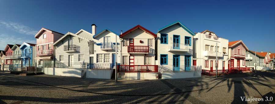 Costa Nova, casas y playas de Aveiro