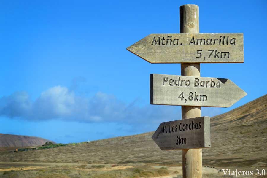 rutas que hacer en la isla de La Graciosa