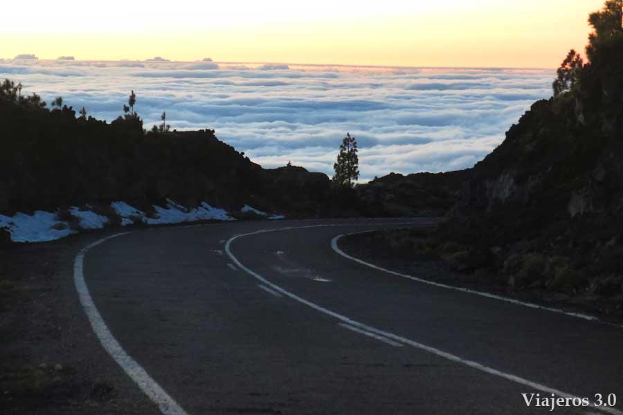 mar de nubes en el Teide, qué ver en Tenerife