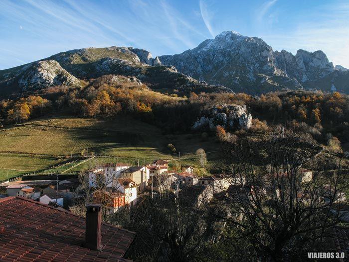 Vista panorámica de Sotres en Asturias