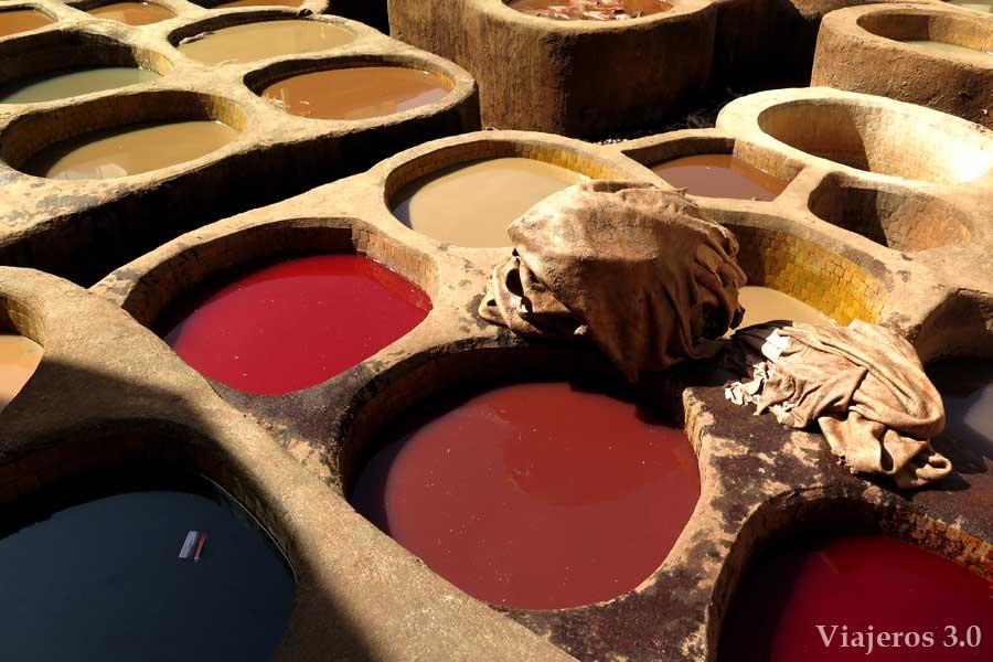 Que ver en Fez: curtiduría en la Medina