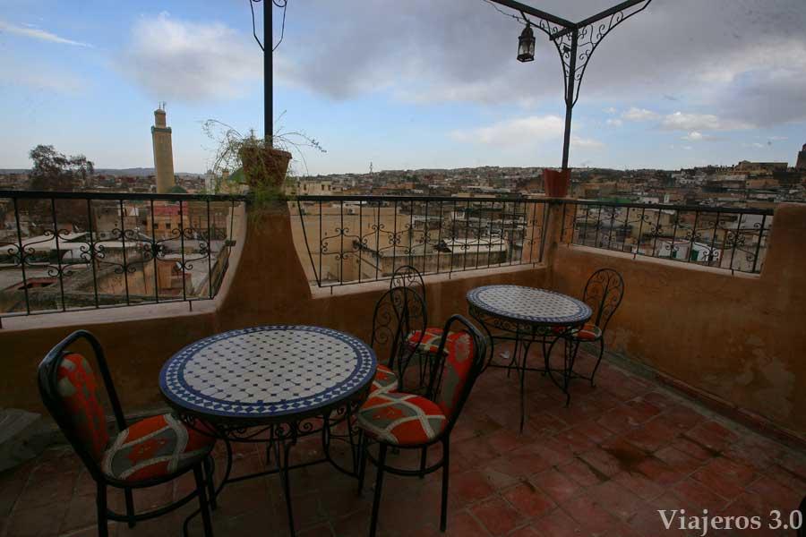 vistas de la Medina de Fez desde una terraza