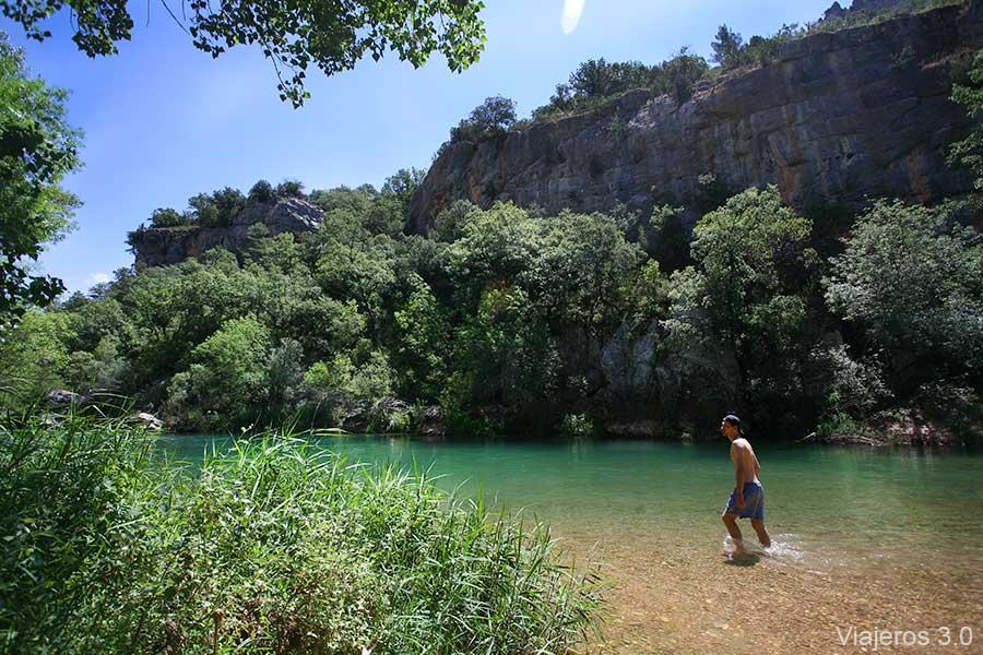 poza en el Parque Natural del Alto Tajo