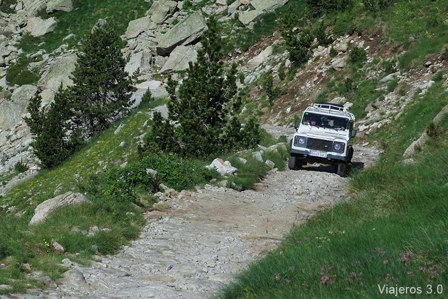 taxis todoterreno en el Pirineo catalán