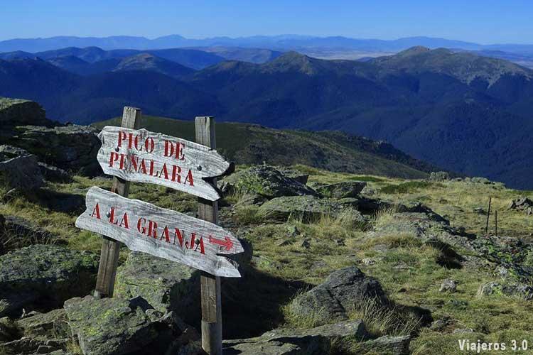 Cima del pico Peñalara.