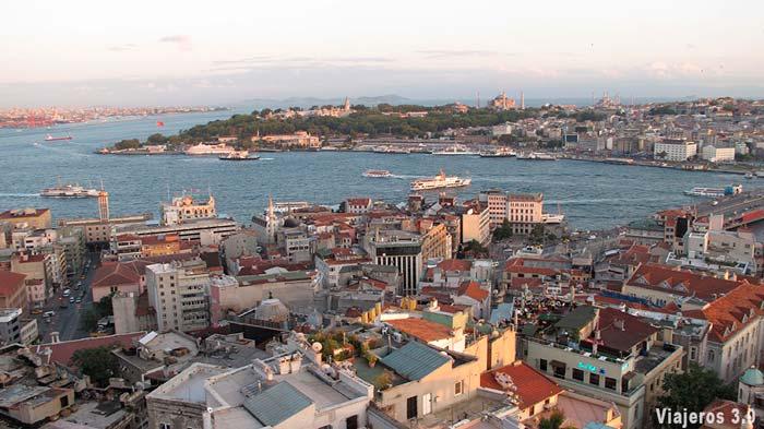 Vista panorámica de Estambul.