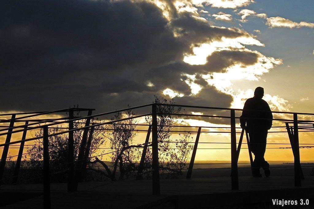 Puesta de sol en Monfragüe
