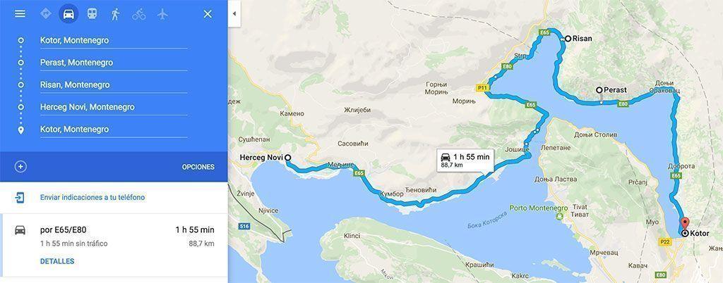 ruta por la Bahía de Kotor, Guía de Montenegro
