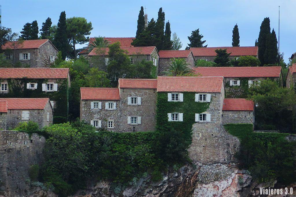 arquitectura de Sveti Stefan en Montenegro