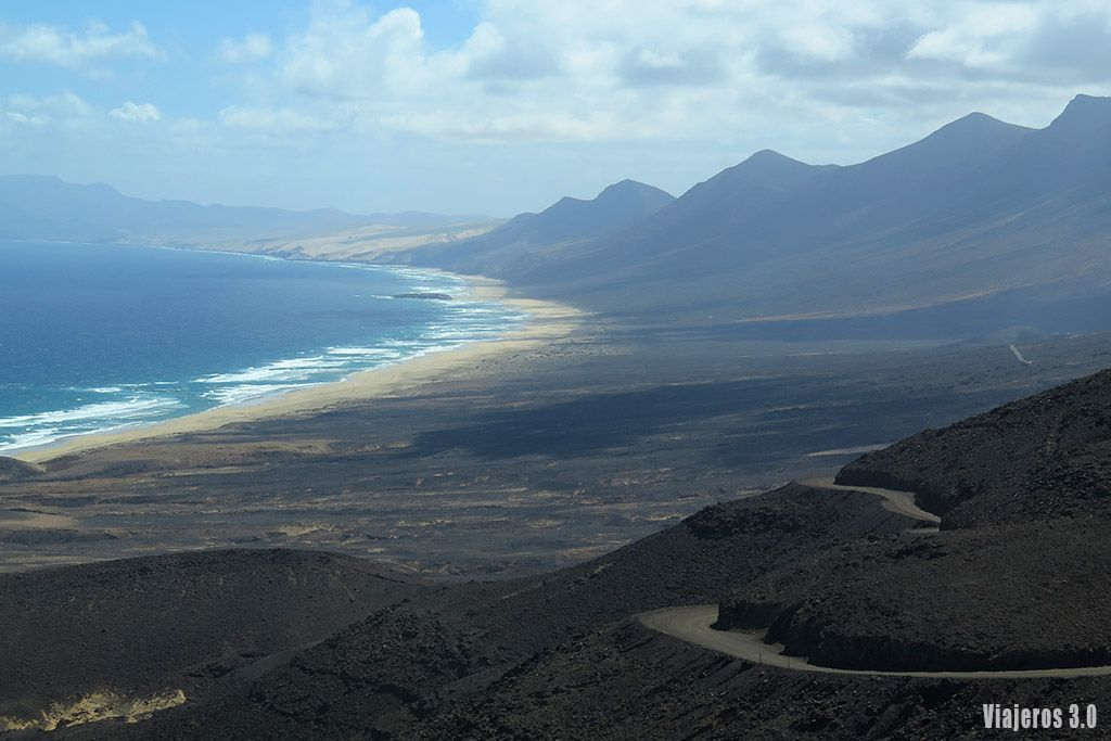 panorámica de playa de Cofete, Ruta por Fuerteventura en 4 días