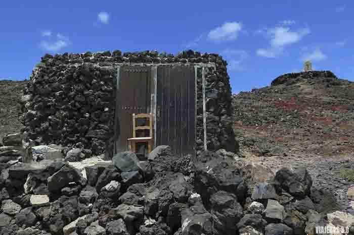 Casitas en la Puertito de la Isla de Lobos