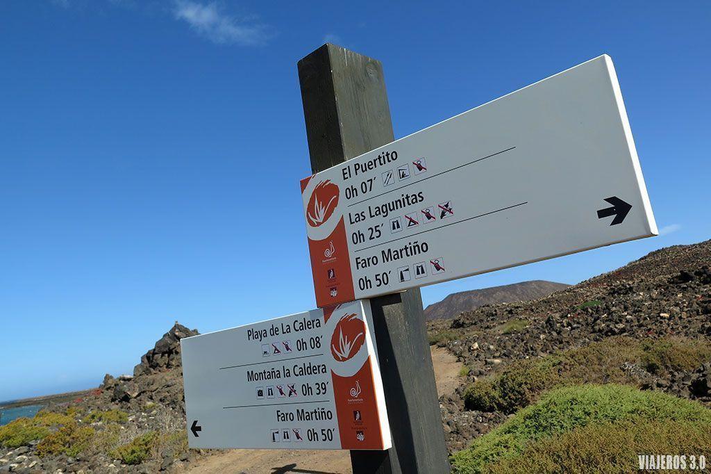 senderismo, ruta circular a la isla de Lobos