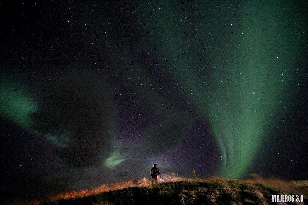 ver auroras boreales en Islandia