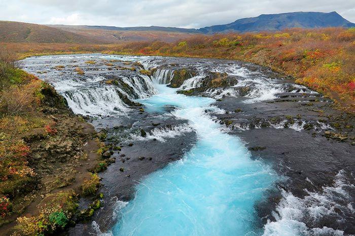 Cascada de Bruarfoss en Islandia.